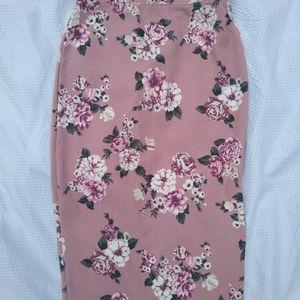 NWT Floral Pencil Skirt